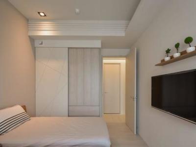 现代简约-106平米二居室装修样板间