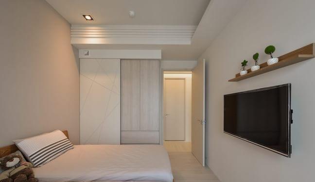 现代简约-106平米二居室-装修样板间