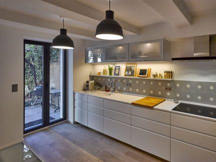 简约风格开放式清新小厨房装修图片