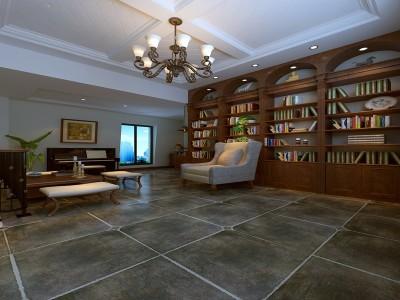 简美风格-158.44平米五居室装修样板间