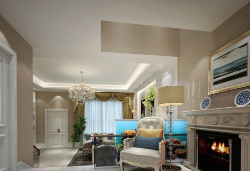 金地格林格林 320平米美式别墅装修效果图
