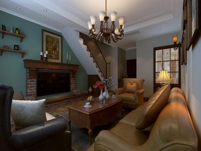 简美风格-158.44平米五居室-装修样板间