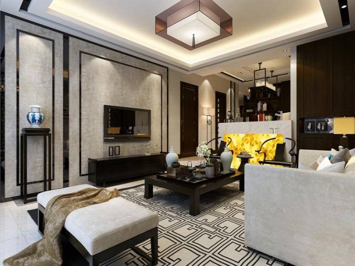 中式古典-130平米三居室-装修设计