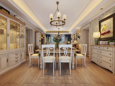欧美风情-140平米四居室装修样板间