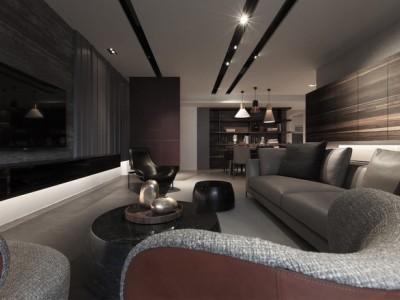 工业风格-116平米三居室装修样板间