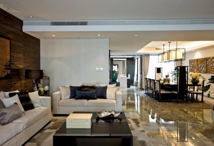 东南亚风格-67平米三居室-装修样板间