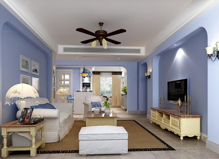 地中海风格-142平米三居室-装修样板间