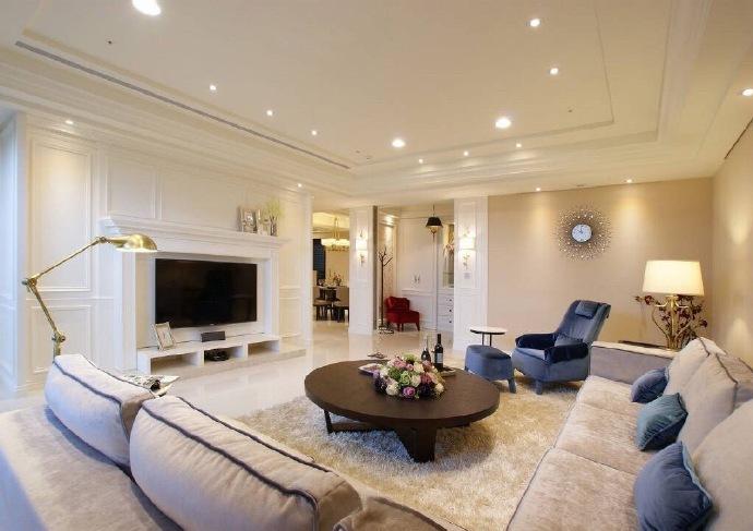 西式古典-130平米三居室-装修样板间
