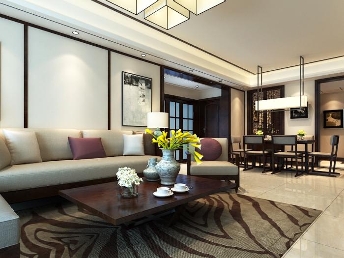 中式古典-147平米三居室-装修样板间