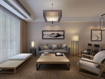 日韩风格-80平米三居室装修样板间
