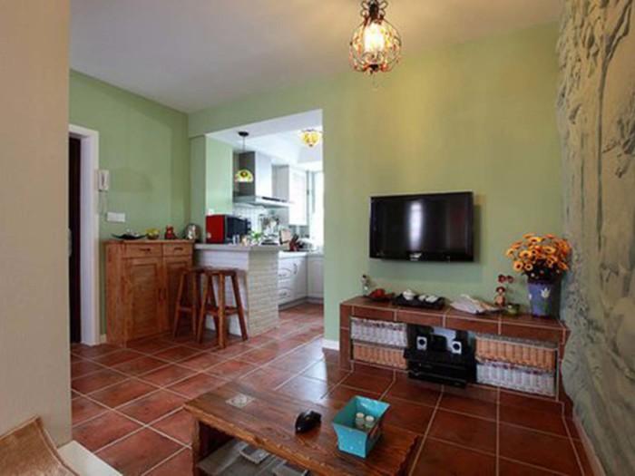 田园风格-58平米一居室-装修样板间