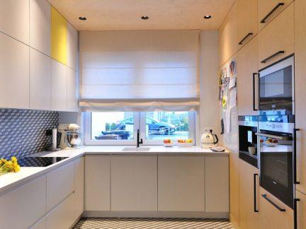 时尚现代风格小户型厨房装修实景图