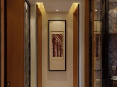 现代简约-123平米三居室装修样板间
