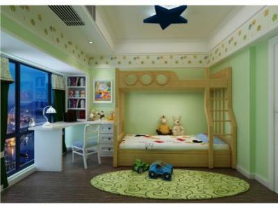 欧美风情-130.75平米三居室装修样板间