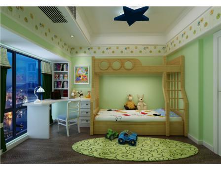 欧美风情-130.75平米三居室-装修样板间