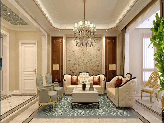 西式古典-160平米三居室-装修样板间
