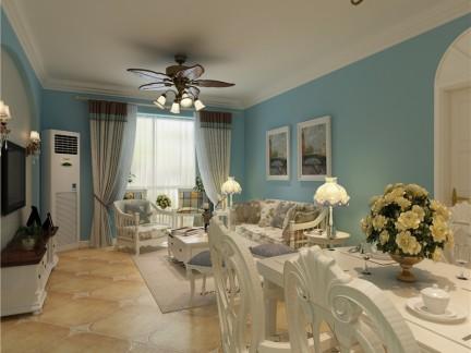 地中海风格二居室玄关灯具装修效果图大全