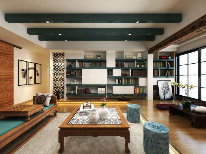 东南亚风格-133平米三居室-装修样板间