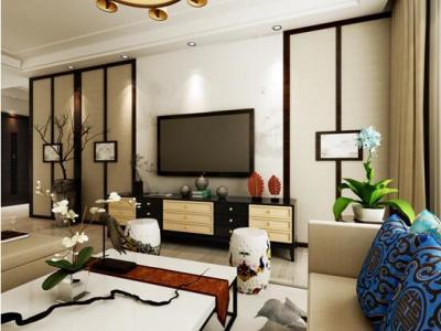 东南亚风格-126平米三居室装修样板间