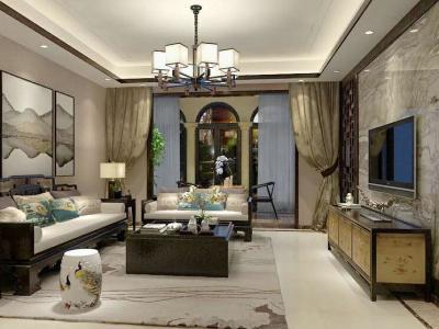中式古典-103.12平米三居室装修样板间
