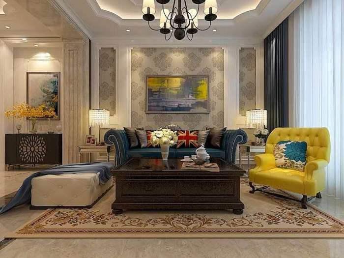 欧美风情-125平米三居室-装修样板间