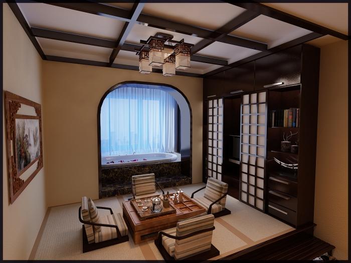 日韩风格-52平米一居室-装修样板间