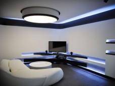 现代简约-123平米三居室装修图片