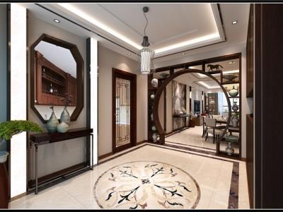 新中式-170平米四居室装修样板间
