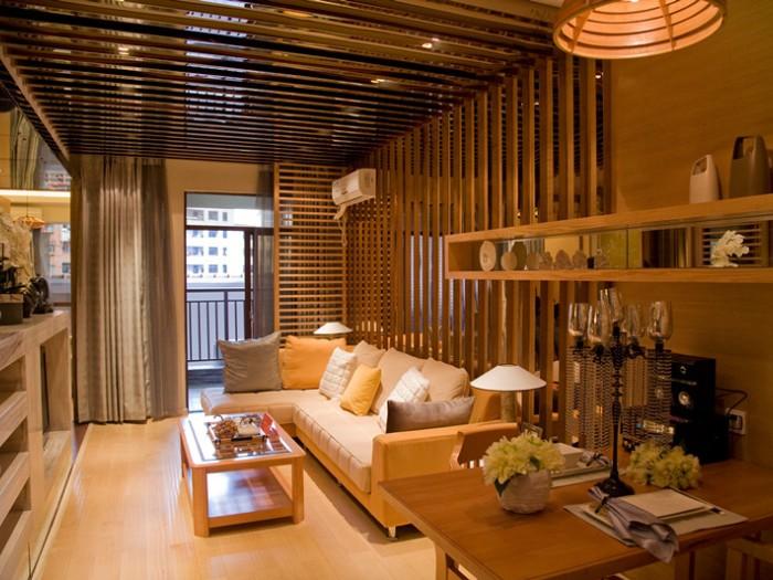 中式风格-90.98平米二居室-装修设计