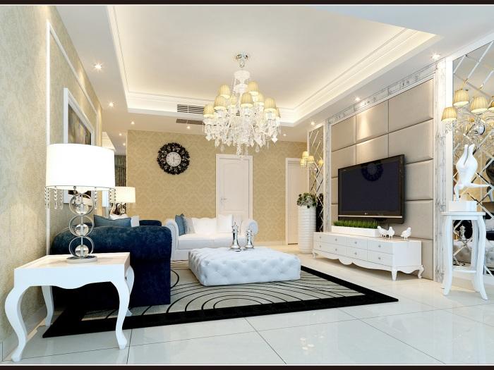 现代简约-117.58平米二居室-装修样板间