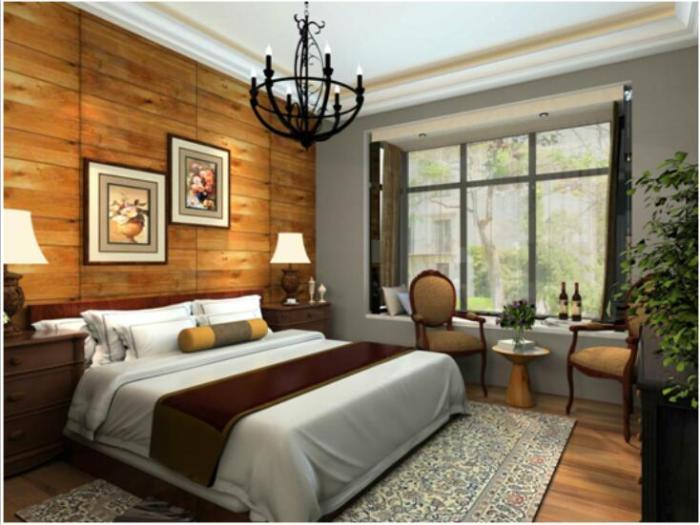 中式风格-113平米三居室-装修样板间