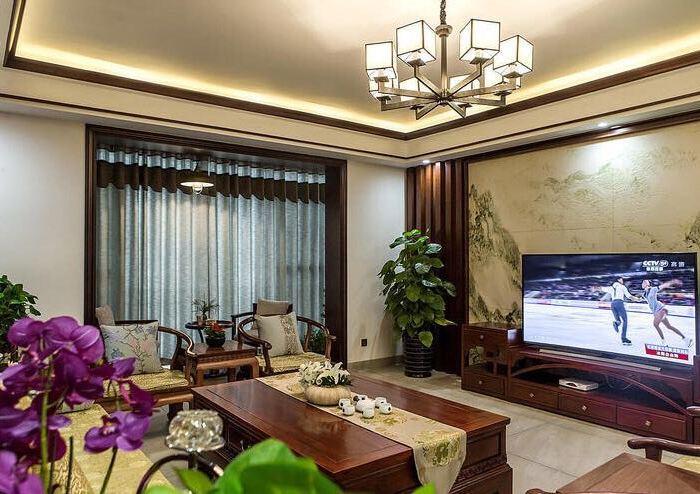 中式风格-145平米四居室-装修样板间