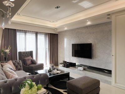新古典风格-132.58平米二居室装修样板间