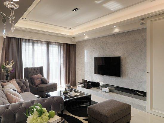 新古典风格-132.58平米二居室-装修样板间