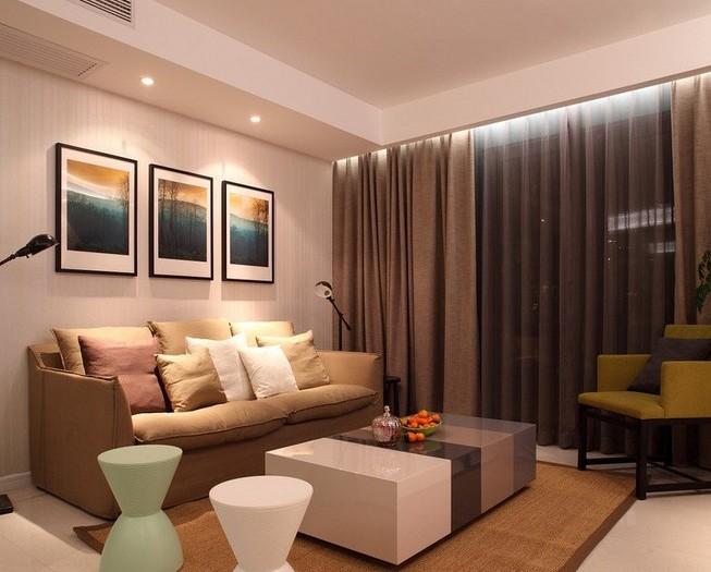 现代简约-86.72平米二居室-装修样板间
