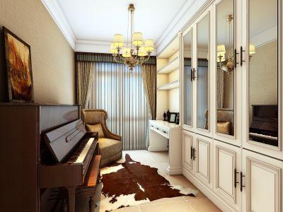 简美风格-100平米三居室装修样板间