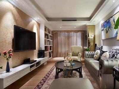 简欧风格-119平米二居室装修样板间
