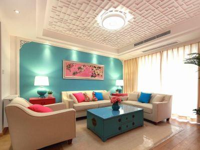 混搭风格-95.67平米二居室装修样板间