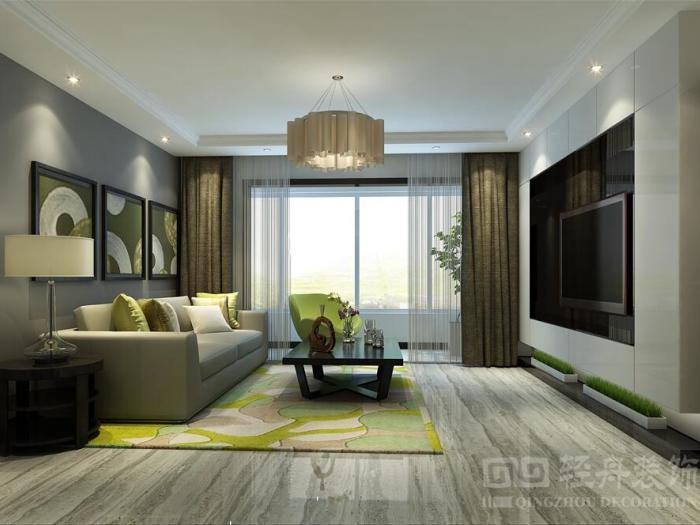 现代简约-114平米二居室-装修样板间