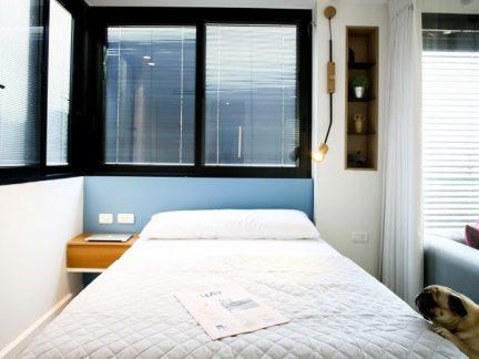 简约风格温馨小户型舒适卧室实景图