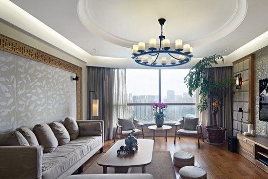 中式古典-146.78平米三居室-装修样板间