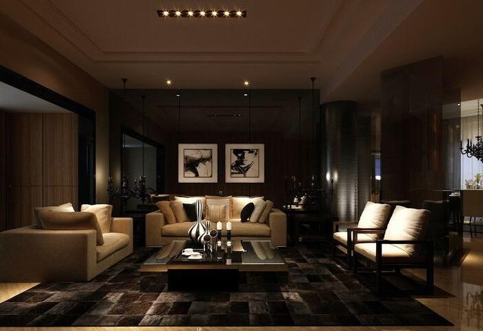 现代简约-160平米三居室-装修样板间