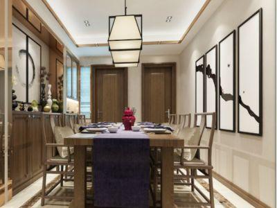 中式风格-169平米三居室装修样板间