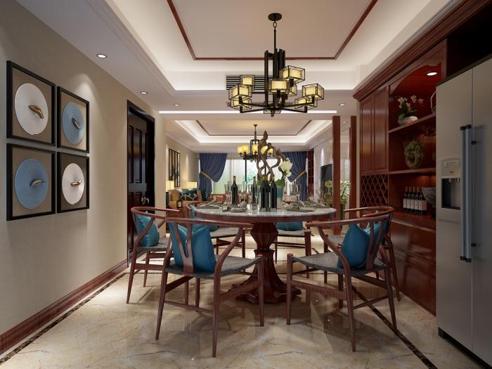 简约中式风格-179平米四居室-装修样板间