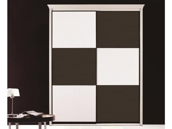 卡迪曼B911黑烤漆18MM灰白钢琴漆移门