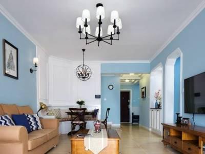 地中海风格-109平米三居室装修样板间