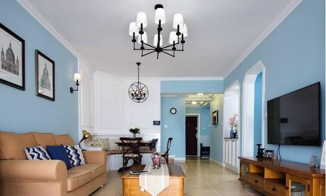 地中海风格-109平米三居室-装修样板间