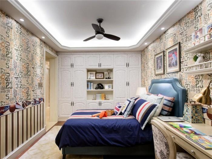 美式乡村-145平米三居室-装修样板间