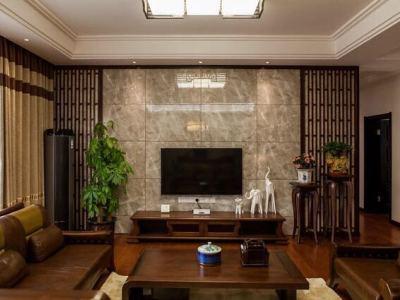 中式古典-134.44平米四居室装修样板间