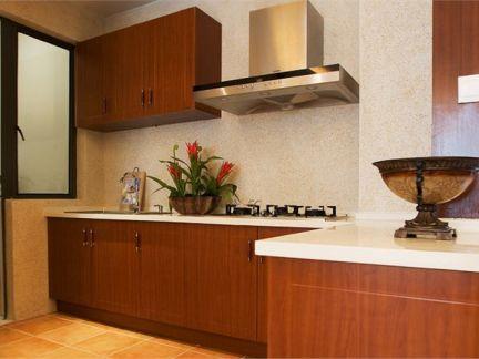 东南亚风格二居室厨房橱柜装修效果图